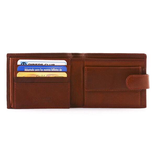 Férfi nappabőr pénztárca 9 db-os kártyatartóval