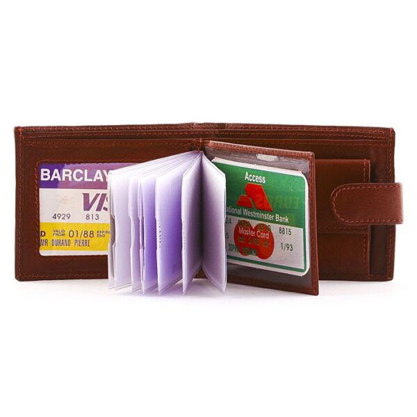 Férfi nappabőr pénztárca 10 db-os kártyatartóval, 10.5x8.5 cm