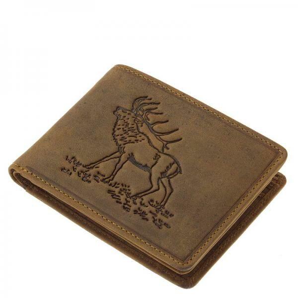 GreenDeed vadász férfi bőr pénztárca szarvasmintával