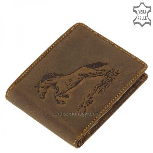GreenDeed bőr lovas pénztárca