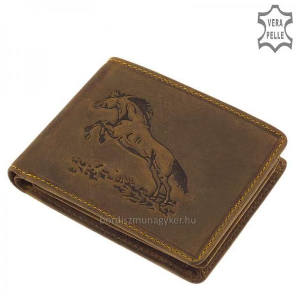 GreenDeed bőr pénztárca ugró lovas mintával