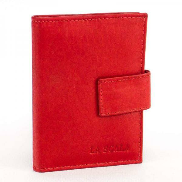 La Scala bőr kártyatartó piros