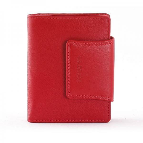 La Scala átfogópántos női bőr pénztárca, piros