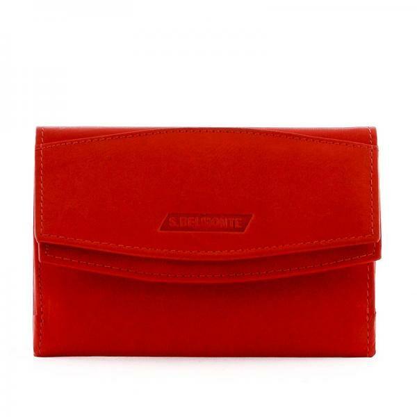 S. Belmonte női bőr pénztárca piros