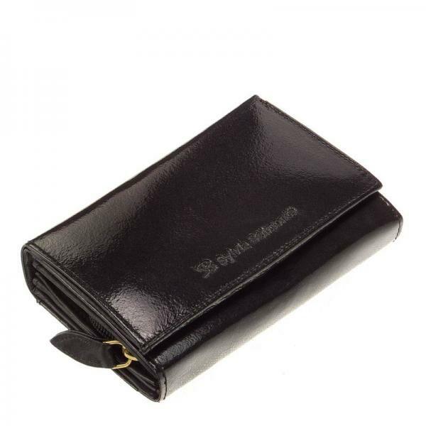 SB Sylvia Belmonte női pénztárca fekete színben