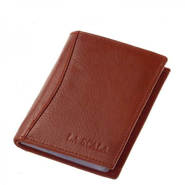 La Scala piros bőr kártyatartó