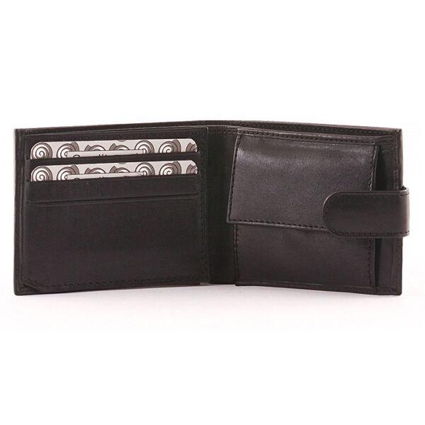 Férfi fényes marhabőr pénztárca 6 db-os kártyatartóval