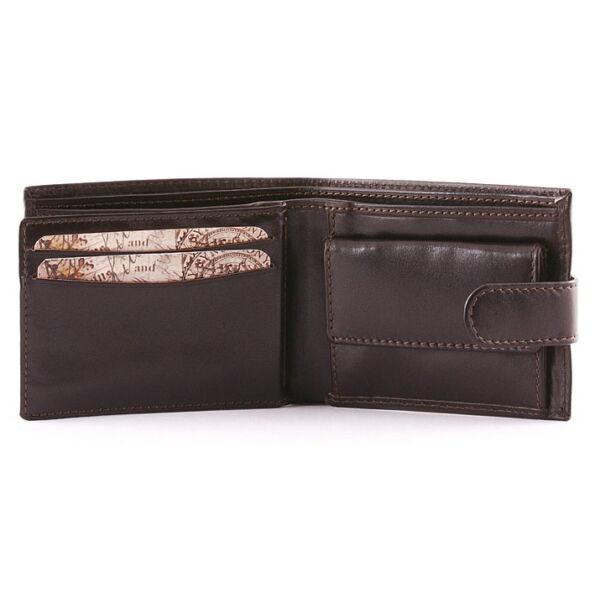 Férfi marhabőr pénztárca fényes marhabőrből 10.5x8.5 cm