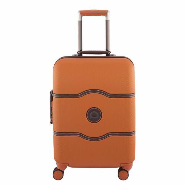 Delsey Chatelet slim kabin bőrönd, orange