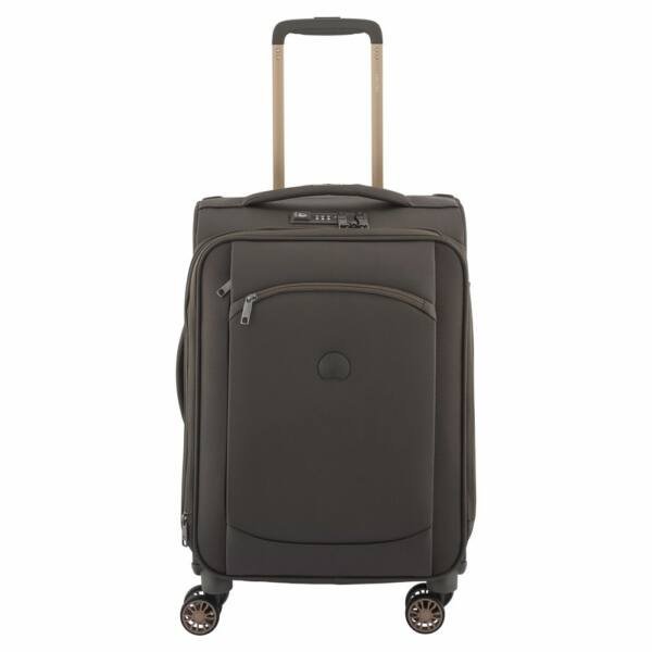 Delsey Montmartre Air, puha falú, kabin bőrönd, barna