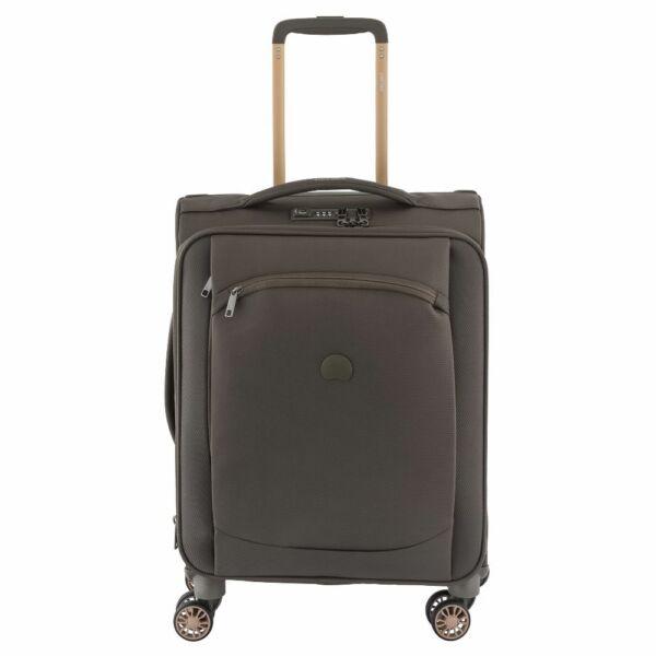 Delsey Montmartre Air Slim, puha falú, kabin bőrönd, barna