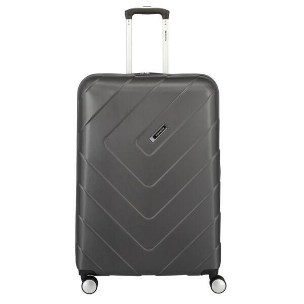 Travelite: Kalisto nagyméretű antracit keményfedeles bőrönd 76 cm