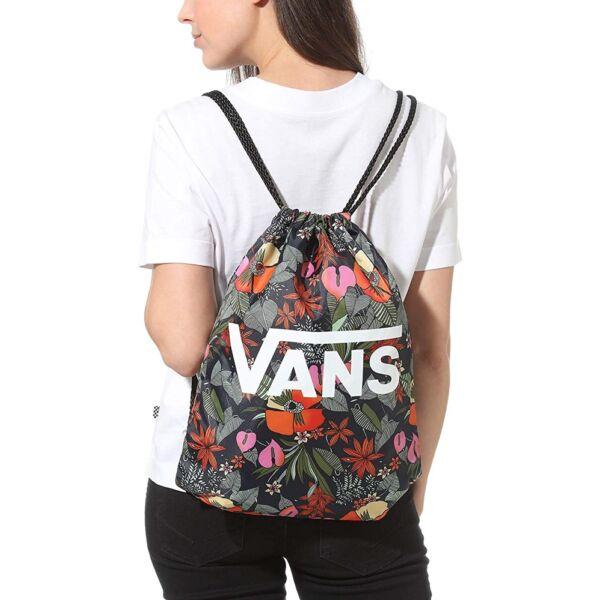 Vans Benched Bag, Gymbag, virág mintás hátizsák, tornazsák