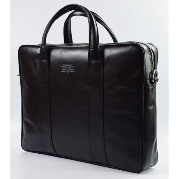 Blazek&Anni  uniszex fekete bőr laptoptáska, aktatáska 40 x 29 x 9 cm.