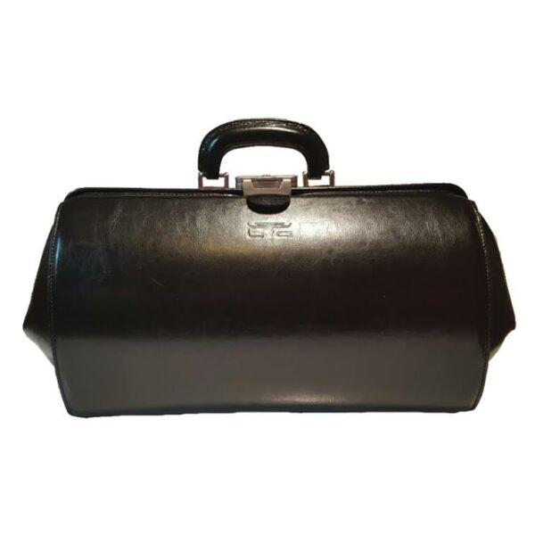 Nagyméretű fekete bőr orvosi táska 41x24x23cm