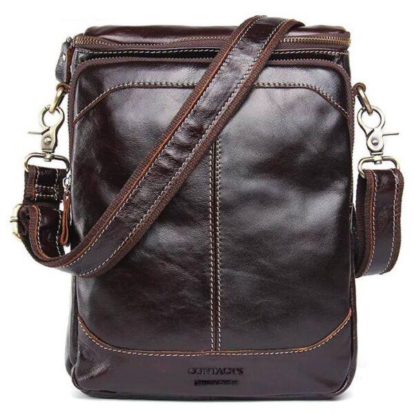Modena, bőr oldaltáska, bőr crossbody táska