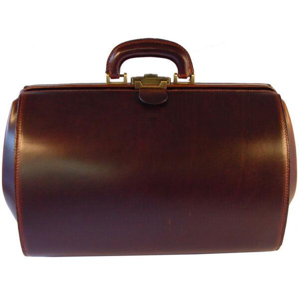 Óriás állatorvosi selyemfényű bőr táska