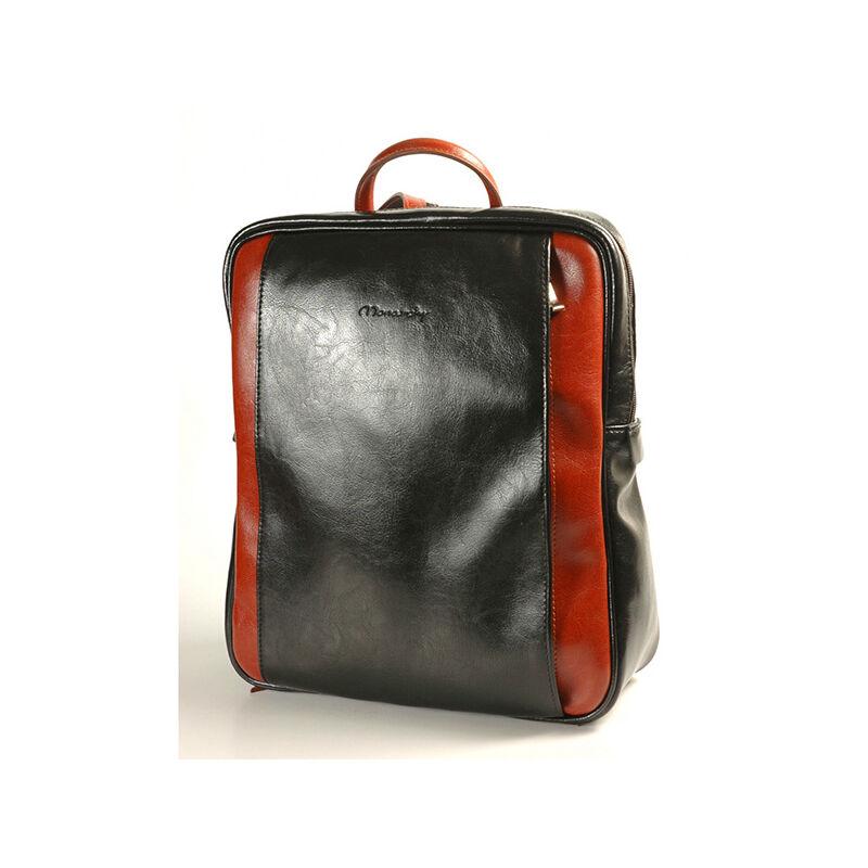 35e389a5e2 Rubina fekete-konyak női bőr hátizsák 29x35cm 23.990 Ft-os áron!