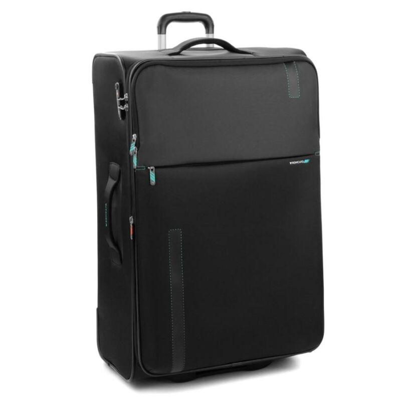 de56ef2e65 Roncato Speed 2 kerekes, puhafedeles, bővíthető bőrönd 78 cm, fekete 29.690  Ft-os áron!