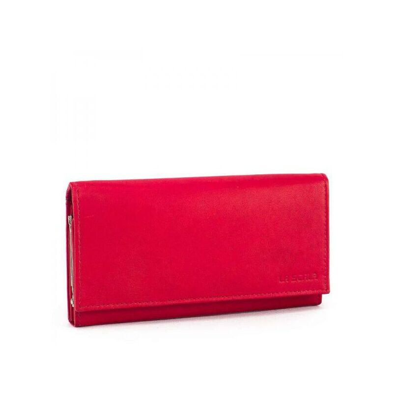 La Scala női bőr pénztárca piros 4.990 Ft-os áron! 58306f2c33