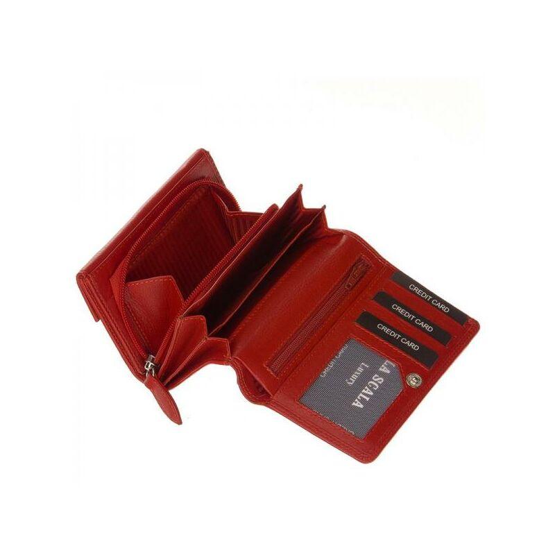 La Scala kisméretű női bőr pénztárca piros 5.990 Ft-os áron! 121703f4ce