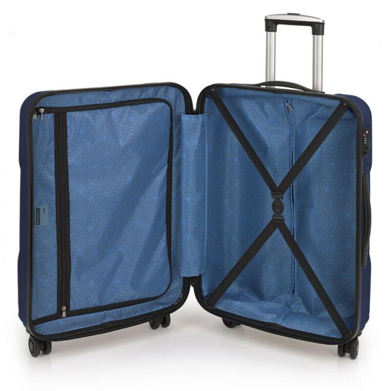 ba496b1e936e Gabol Custom kemény falú bőrönd 76 cm, kék 24.290 Ft-os áron!