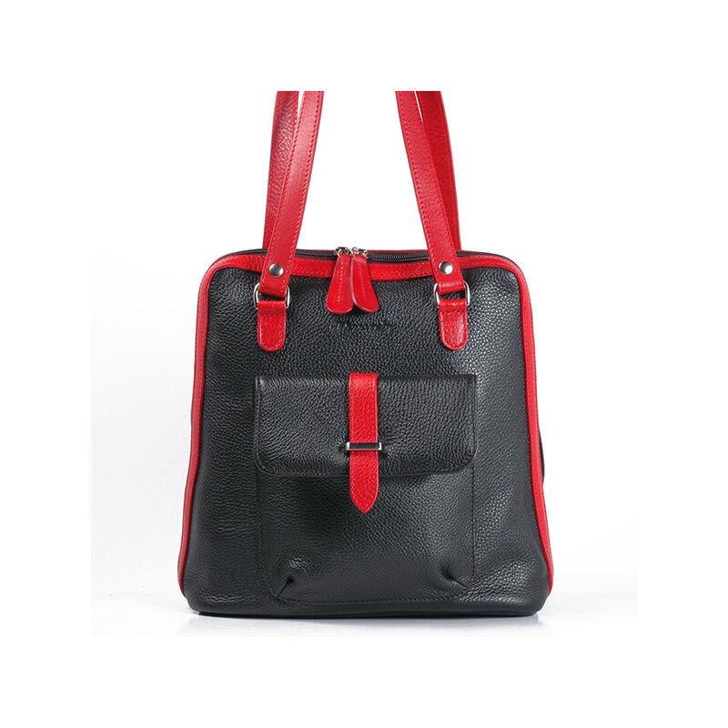 89a01fef83 Karen női fekete-piros bőr hátizsák 27.990 Ft-os áron!