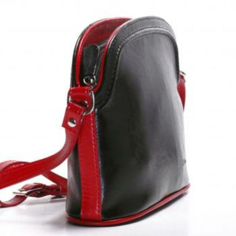 e00afb345d10 Virginia fekete-piros női bőr válltáska 25x20cm 14.990 Ft-os áron!