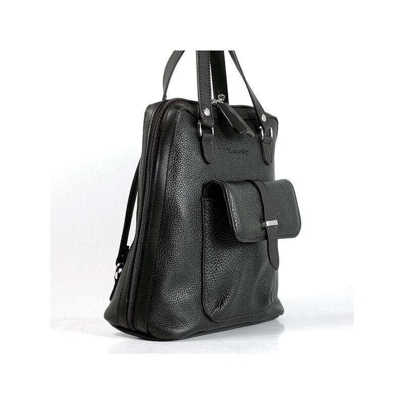 02819fc997 Karen női fekete bőr hátizsák 27.990 Ft-os áron!