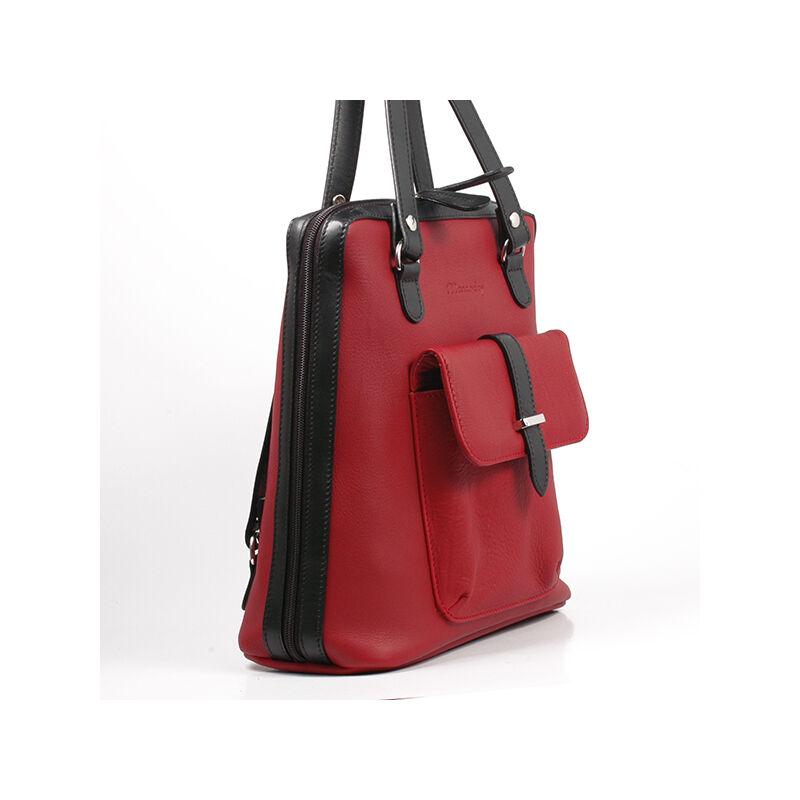e562fb8f1f Karen női piros-fekete bőr hátizsák 27.990 Ft-os áron!