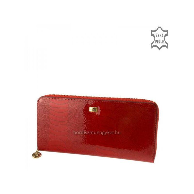f9c17430a708 Nicole croco piros női lakk bőr pénztárca 8.990 Ft-os áron!