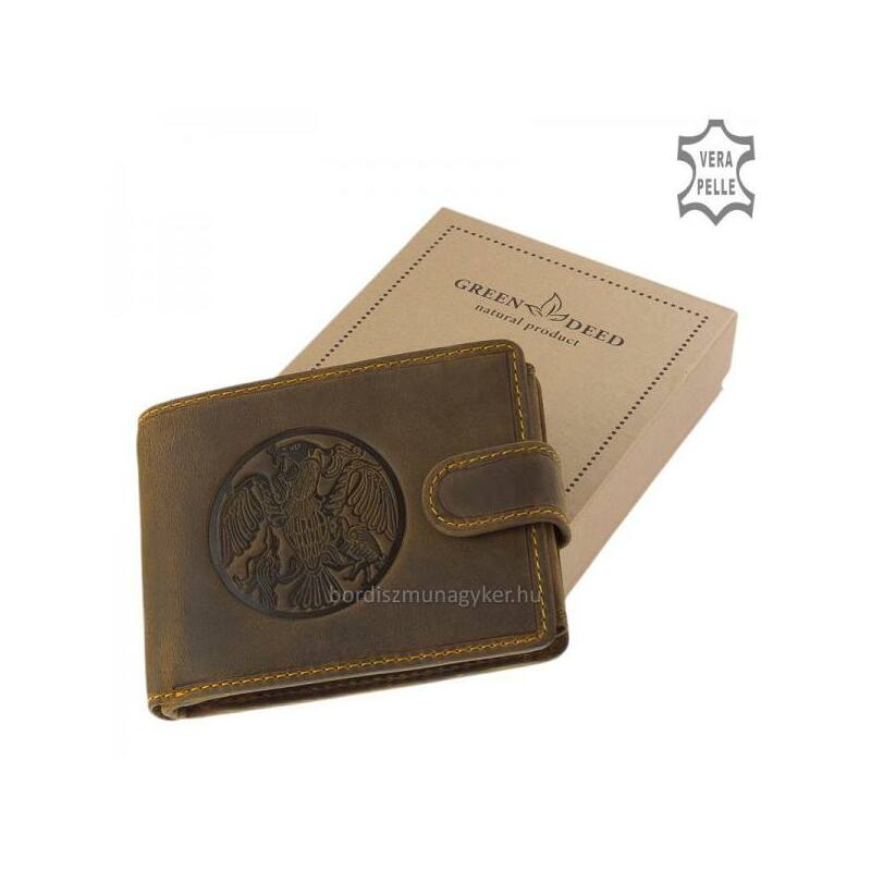 8264e50788e7 GreenDeed bőr pénztárca turul mintával 7.990 Ft-os áron!