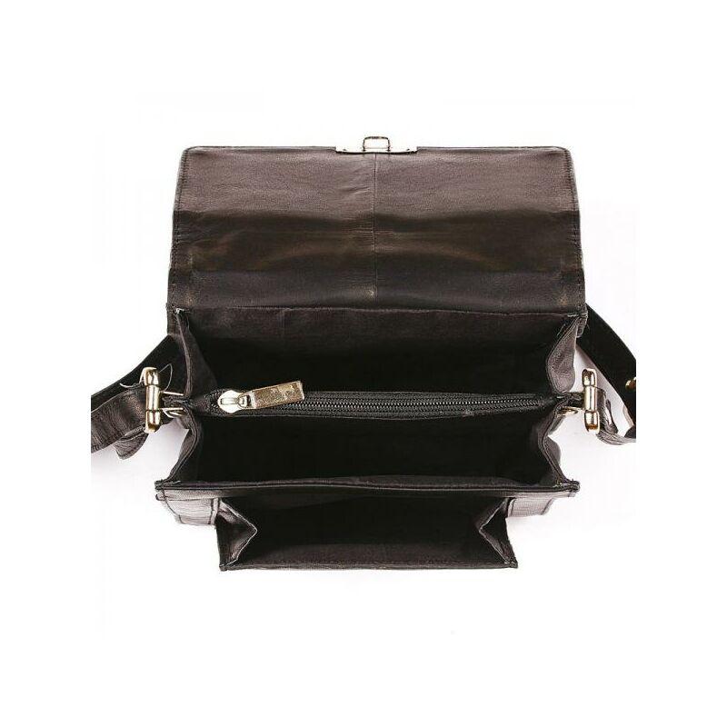 723f576dfc30 S. Belmonte férfi bőr oldaltáska fekete 19 x 25 cm 9.990 Ft-os áron!