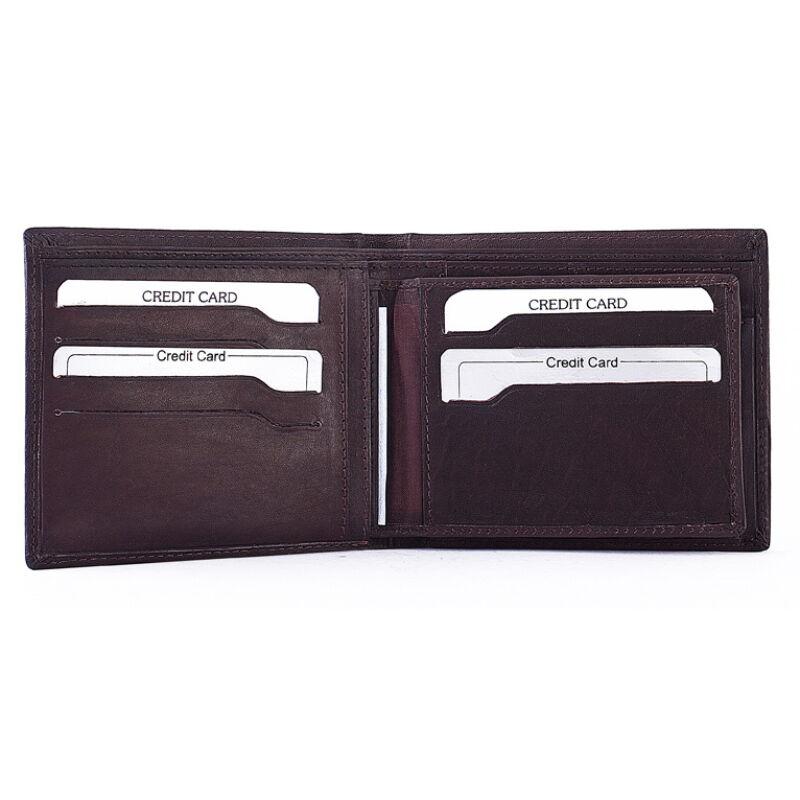 Férfi marhabőr pénztárca 5 db-os irattartóval 12x10cm 2.150 Ft-os áron! 523527d448