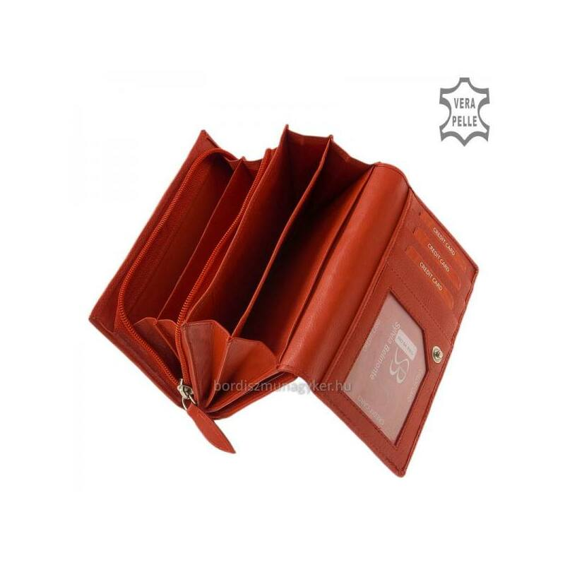 Bőr női bőr pénztárca Sylvia Belmonte piros 5.990 Ft-os áron! 5ebab94a30