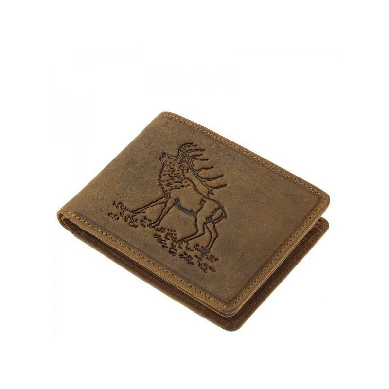 fc553c672e91 GreenDeed vadász férfi bőr pénztárca szarvasmintával 6.490 Ft-os áron!