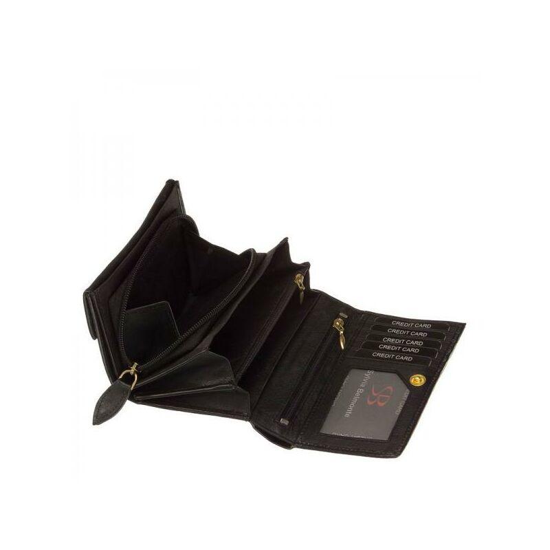 SB Sylvia Belmonte női bőr pénztárca fekete színben 2.490 Ft-os áron! 25900da812