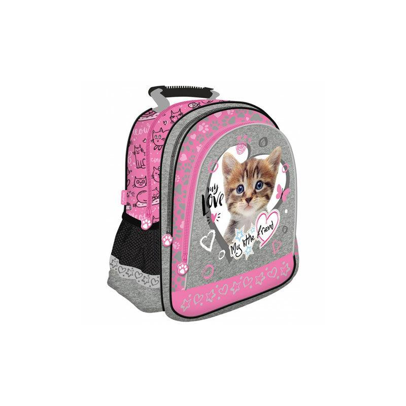 b3219a06b420 My Little Friend: Cicás pink iskolatáska, hátizsák 29×38×11 cm ...