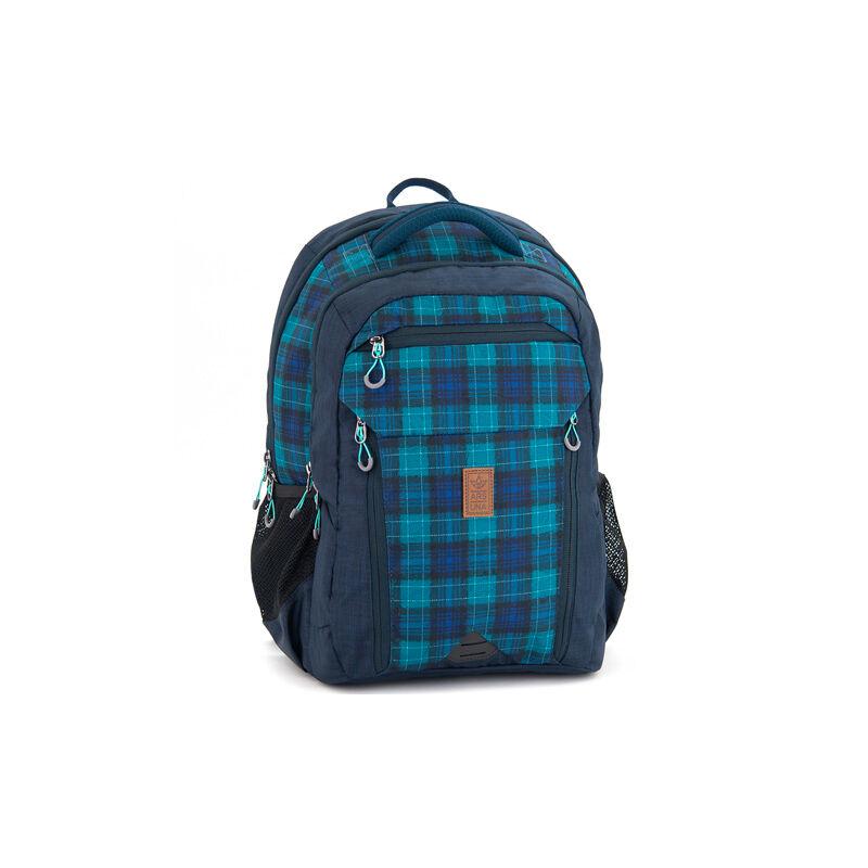 1794160e677c Kék kockás ergonomikus iskolatáska, hátizsák 17.083 Ft-os áron!
