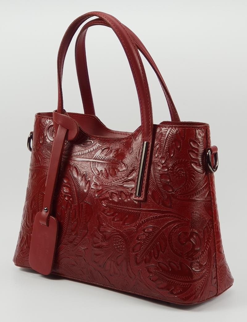 Isabell nyomott mintás olasz női bőr kézitáska vállpánttal 37 x 28 cm.  22.990 Ft-os áron! fc98eff084